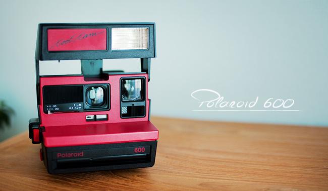 ポラロイド社製 インスタントカメラ「polaroid 600」購入