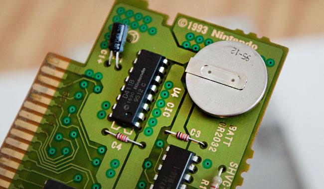 スーパーファミコン  電池交換