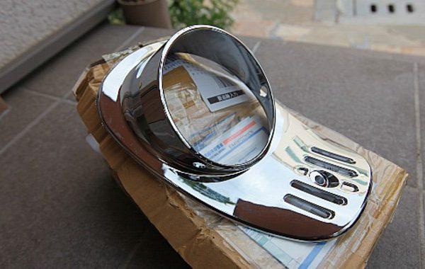 ジュリオ(AF52):メッキヘッドライトカバー装着!!