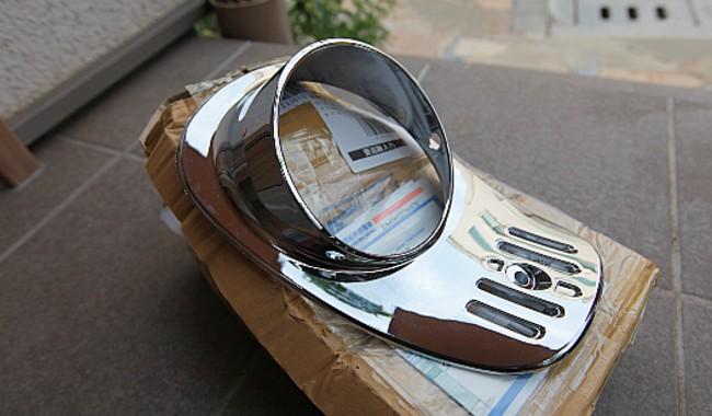 ジュリオ(AF52)メッキヘッドライトカバー