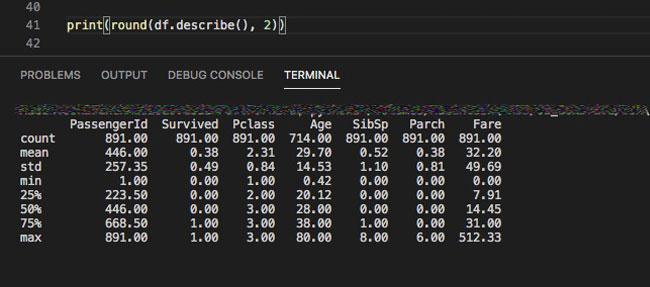 【Python】describe関数